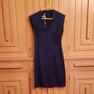 NWT Halston Heritage Blue Cap Sleeve Dress